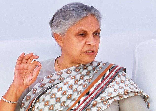 दिल्ली की पूर्व मुख्यमंत्री शीला दीक्षित
