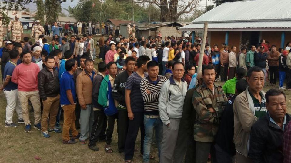 मणिपुर में पहले चरण की वोटिंग समाप्त