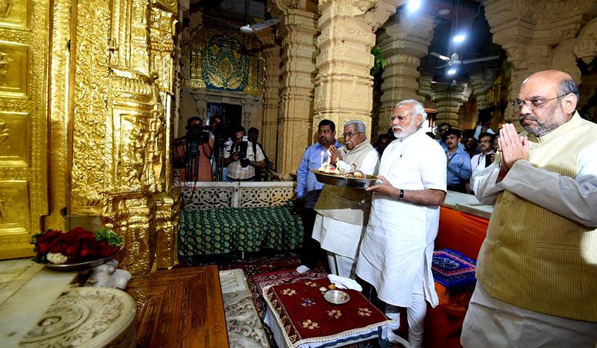 प्रधानमंत्री नरेन्द्र मोदी गुजरात के गिर-सोमनाथ  में
