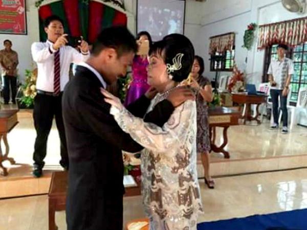 28 साल का पति और 82 साल की पत्नी