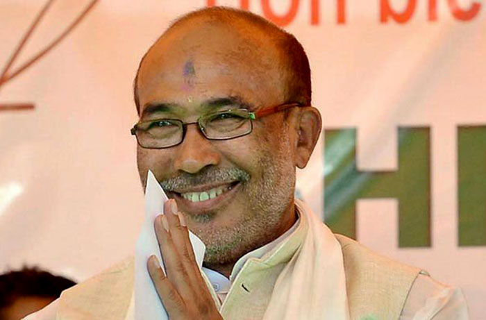 मणिपुर के मुख्यमंत्री एन बिरेन सिंह