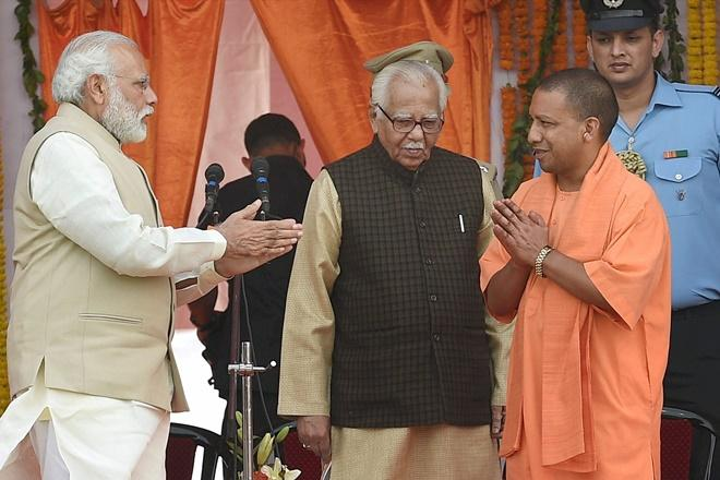 पीएम नरेन्द्र मोदी के साथ सीएम योगी आदित्यनाथ
