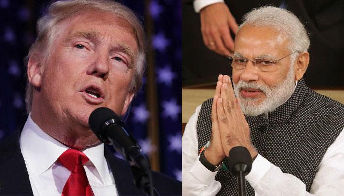 प्रधानमंत्री नरेंद्र मोदी और अमेरिका के राष्ट्रपति डोनाल्ड ट्रंप