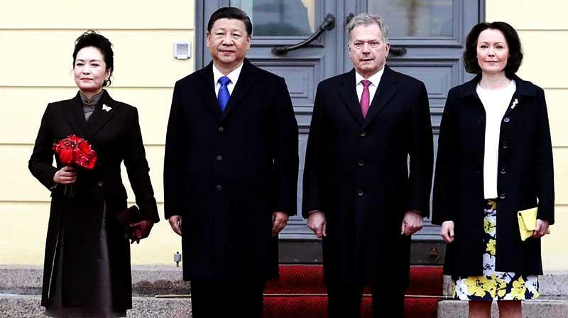 चीन राष्ट्रपति शी जिनपिंग - फिनलैंड राष्ट्रपति शाली ननिनीस्टो