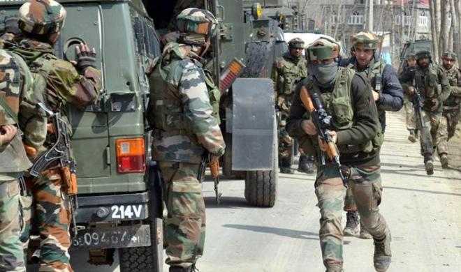 जम्मू कश्मीर सेना हमले को नाकाम करते हुए