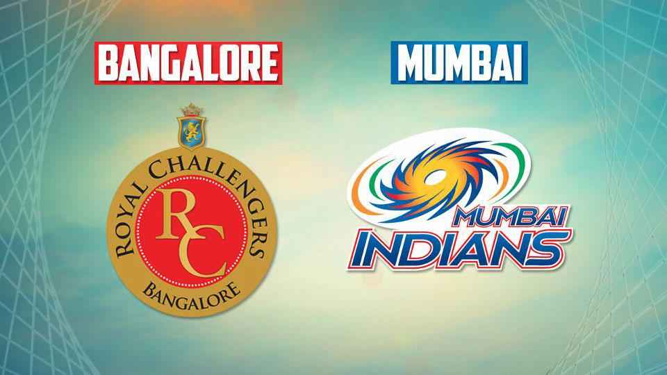 रॉयल चैलेंजर्स बैंगलोर Vs मुबई इंडियन्स