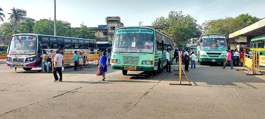 तमिलनाडु में बसों की हड़ताल