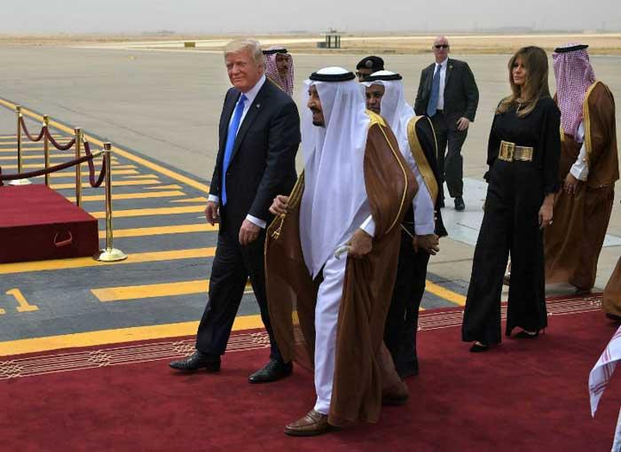 सऊदी अरब में डोनल्ड ट्रंप