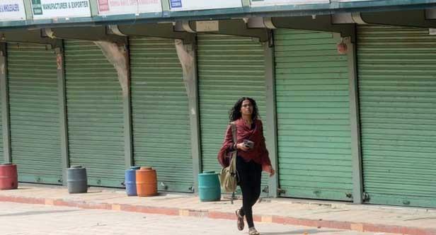 कानपुर में थोक कपड़ा व्यापारियों की हड़ताल