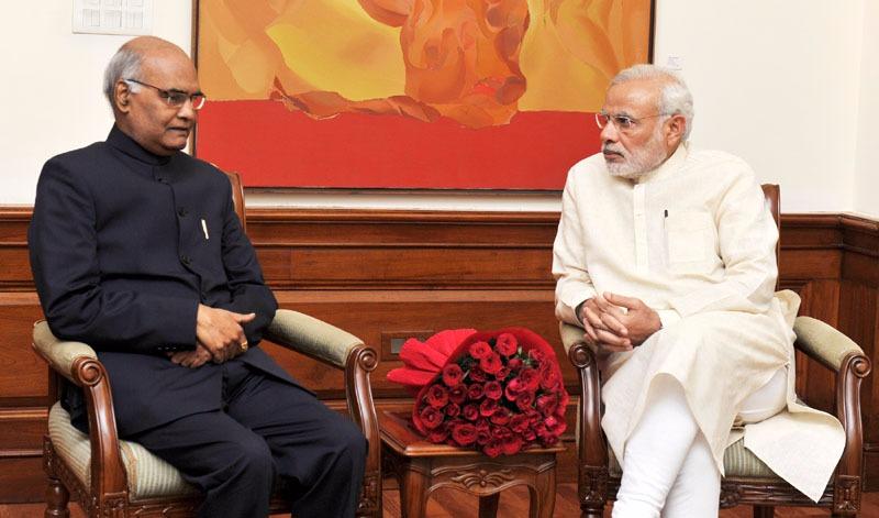 पीएम नरेंद्र मोदी के साथ रामनाथ कोविंद