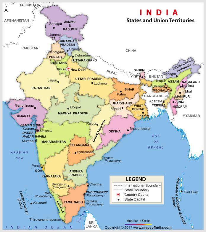 भारत का नक्शा