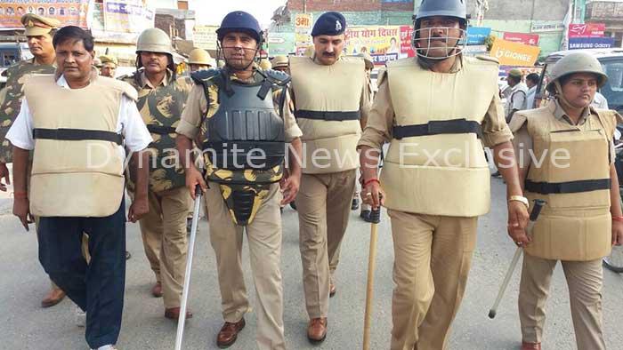 महराजगंज में कड़ी सुरक्षा व्यवस्था