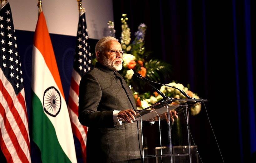 प्रधानमंत्री नरेंद्र मोदी, वर्जीनिया के समारोह में
