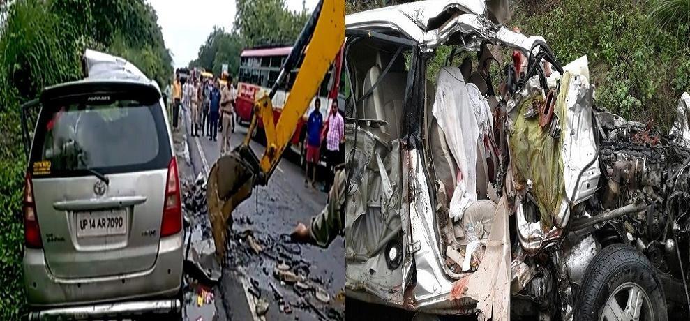 बिजनौर मे सड़क हादसा