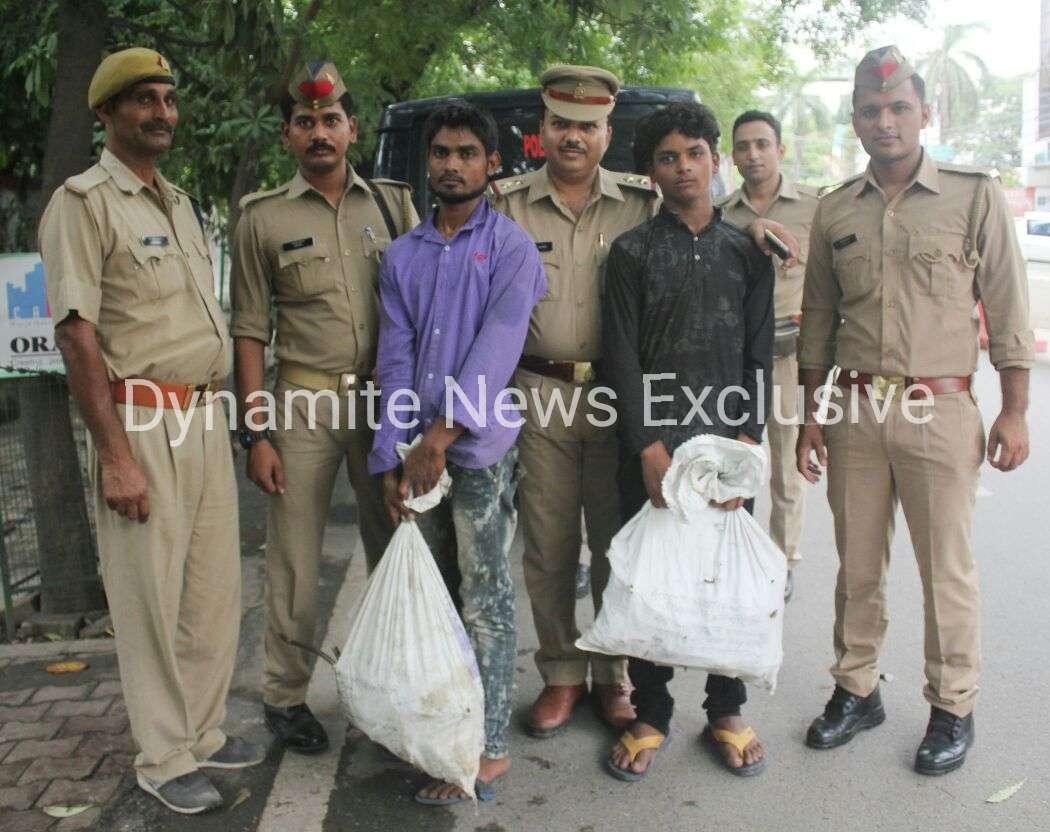 पुलिस की गिरफ्त में चोर