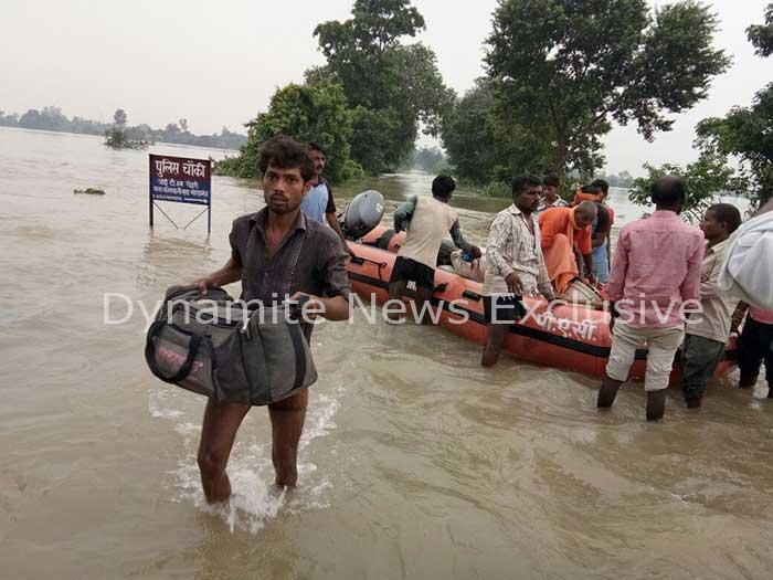 जिले में बाढ़ की स्थिति