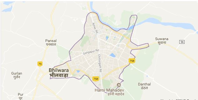 भीलवाड़ा का मानचित्र
