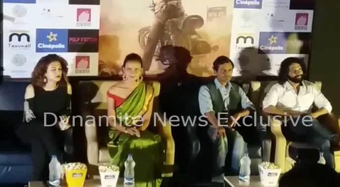 फिल्म'बाबूमोशाय बंदूकबाज' का प्रमोशन करते नवाजुद्दीन सिद्दीकी