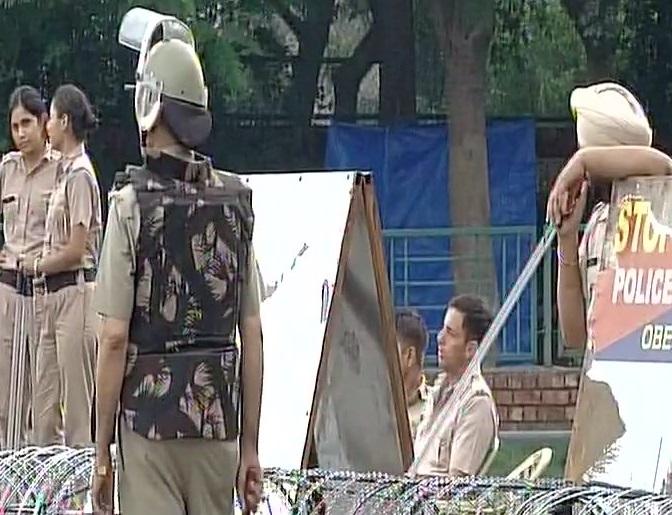 पंचकुला में तैनात सुरक्षा बल