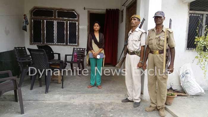 मामले के बाद मौके पर तैनात पुलिस
