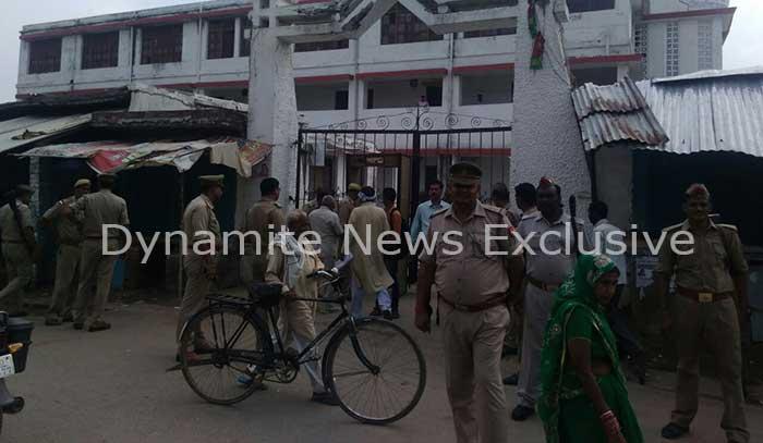 आजमगढ़ में भारी सुरक्षा व्यवस्था