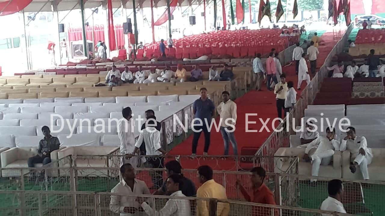 सपा के राष्ट्रीय सम्मेलन की जोरदार तैयारियां