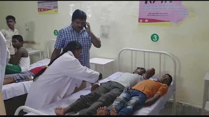 अस्पताल में भर्ती बच्चे