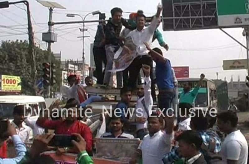 एबीवीपी कार्यकर्ताओं का प्रदर्शन