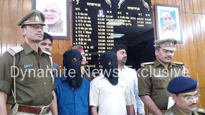 पुलिस द्वारा दबोचे गये आरोपी