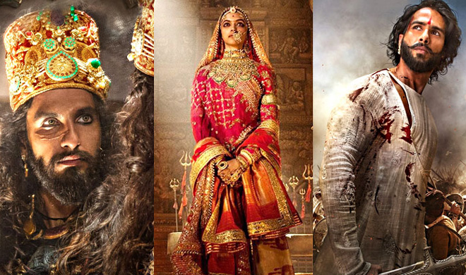 फिल्म  'पद्मावत'  में दीपिका, रणवीर और शाहिद