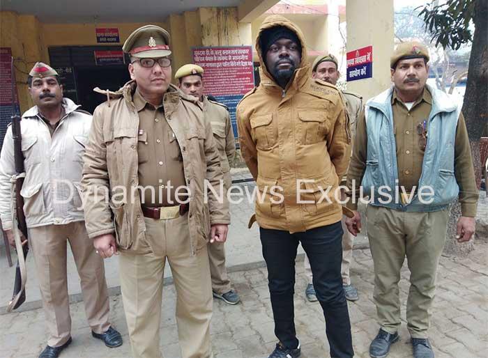 पुलिस की गिरफ्त में संदिग्ध बिस्मार्क बांकुड़ा
