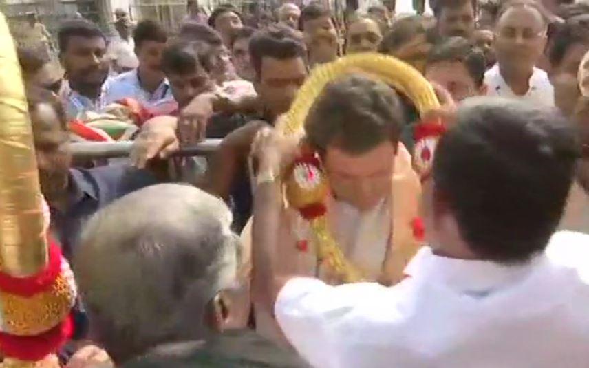 Image result for कर्नाटक दौरे पर पहुंचे राहुल,चामुंडेश्वरी मंदिर में की पूजा-अर्चना