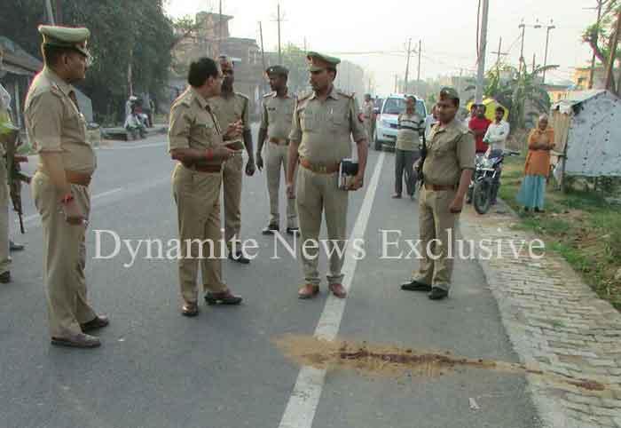 घटनास्थल पर पहुंचे एसपी आरपी सिंह, जमकर लताड़ा कोतवाल को