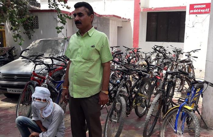 गिरफ्तार साइकिल चोर