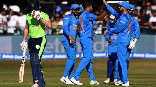 भारत-आयरलैंड के खिलाड़ी