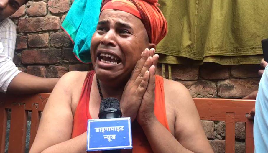 हमले के बाद रोते योगी अजय