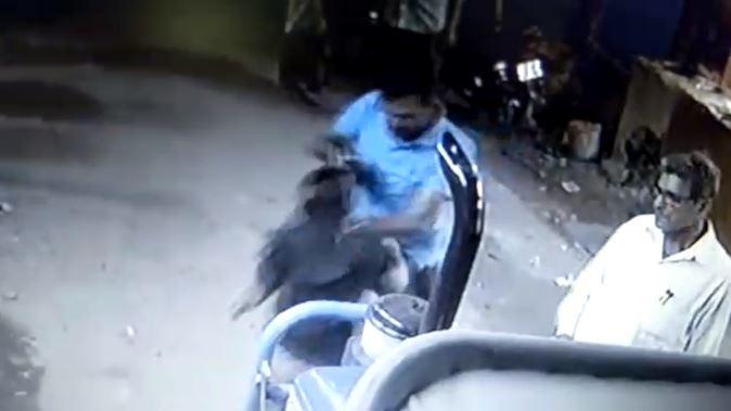 दबंगई की करतूत सीसीटीवी में हुई कैद