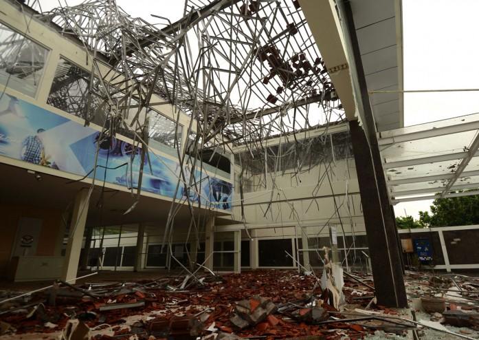 भूकंप के कारण तबाह इमारत