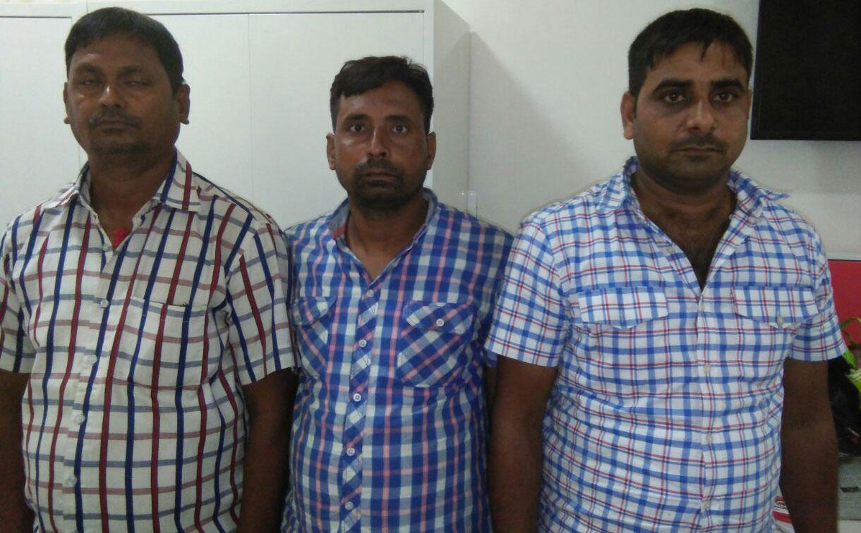 एसटीएफ द्वारा गिरफ्तार गिरोह के तीन सदस्य