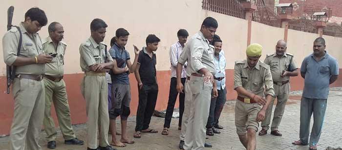 जांच में जुटी कोतवाली पुलिस व जीआरपी