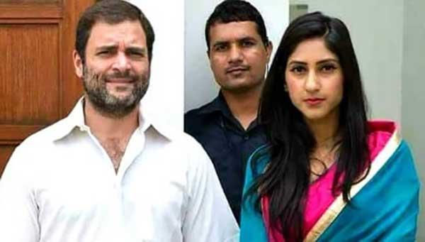 राहुल गांधी के साथ सदर विधायक अदिति सिंह (फाइल फोटो)