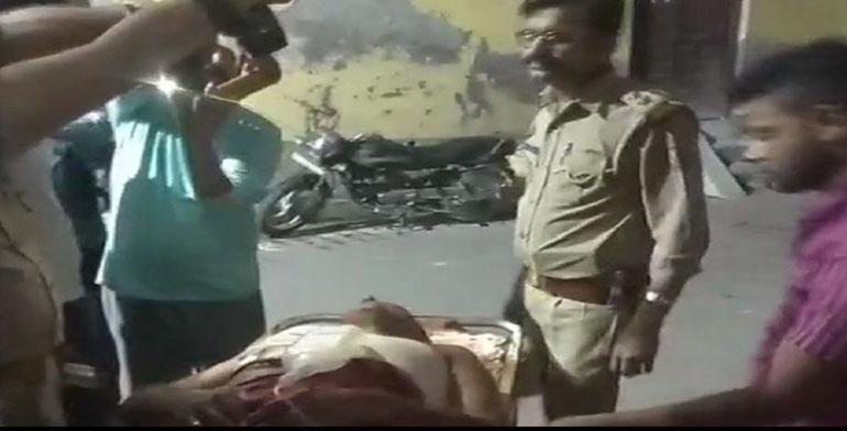 कमालपुर चौकी पर बदमाशों की गोली से घायल हुआ होमगार्ड का जवान संजय
