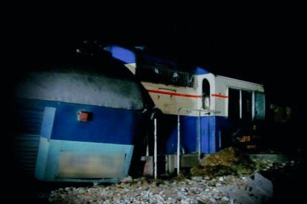 रेल हादसे की फोटो