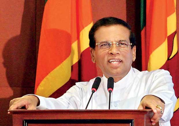 श्रीलंका के राष्ट्रपति मैत्रीपाला सिरीसेना