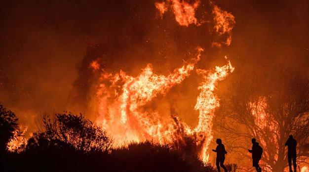 कैलिफोर्निया में लगी भीषण आग (प्रतीकात्मक तस्वीर)