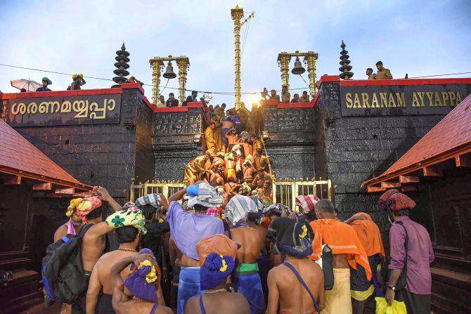 सबरीमाला स्थित भगवान अयप्पा मंदिर