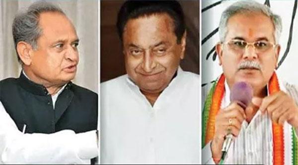 राजस्थान, मध्य प्रदेश और छत्तीसगढ़ में CM पर पेंच