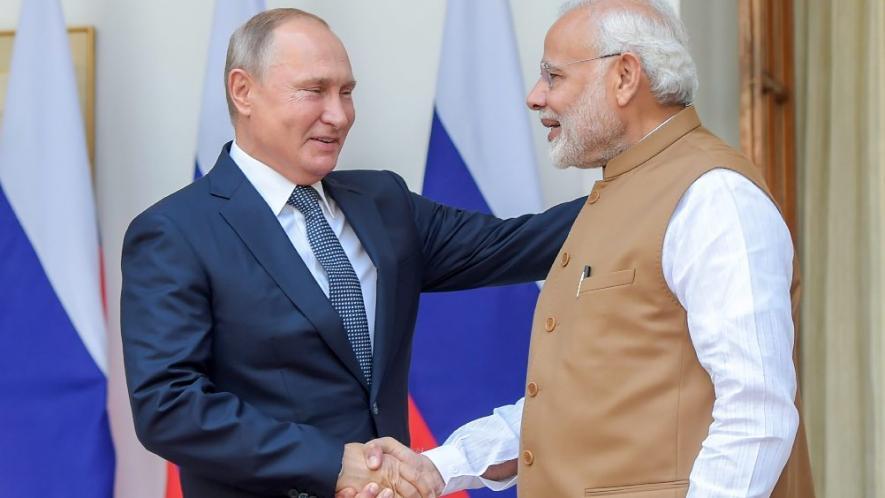 पीएम मोदी और रूस के राष्ट्रपति व्लादिमीर पुतिन