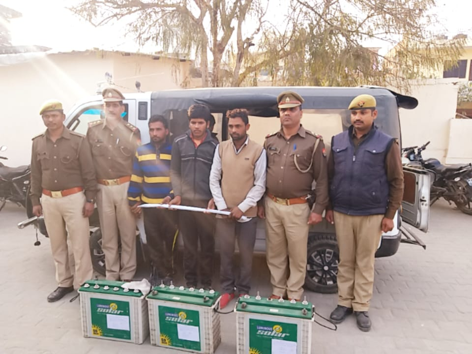 बैटरा चोरी करने के आरोप में गिरफ्तार युवक