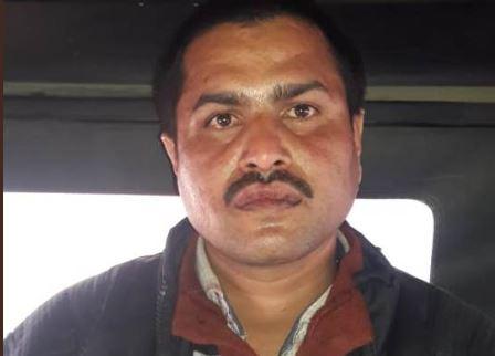 गिरफ्तार आरोपी  हनुमान पाण्डेय